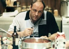 Still of James Gandolfini in The Sopranos.....forget about it