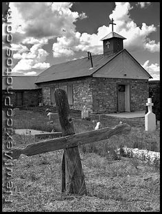 San Antonio Church and graveyard in Tajique, New Mexico. New Mexico Road Trip, Travel New Mexico, New Mexico Usa, Photographs, Photos, Pictures, New Mexican, Land Of Enchantment, Old Churches