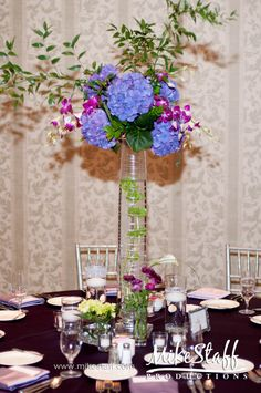 Wedding reception decorations, tablescapes Mike Staff Productions