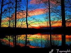 Painted Rainbow Reflected