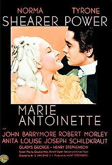 Marie Antoinette is a 1938 film produced by Metro-Goldwyn-Mayer. It was directed by W. S. Van Dyke and starred Norma Shearer as Marie Antoinette. Based upon the 1932 biography of the ill-fated Queen of France by the Austrian writer Stefan Zweig, it had its Los Angeles premiere at the legendary Carthay Circle Theatre, where the landscaping was specially decorated for the event.  The film was the last project of Irving Thalberg who died in 1936 while it was in the planning stage.