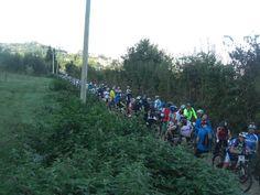 la Spoleto-Norcia ...in mtb, La partenza dei 700