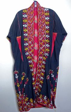 Vintage Bedouin Robe Nubian Antique Embroidery Handmade Ethnic Tribal Authentic #Handmade #Robe