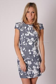 PRE ORDER luna cap sleeve dress - navy/white print arrives 25th september