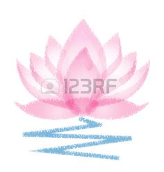Pink Lotus grunge vector flower Stock Vector