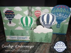 Carolyn's Card Creations: Stamp, Ink, Paper #91 - Up and Away Birthday