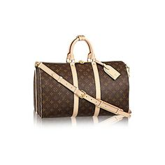 Keepall Bandoulière 45 Damier Azur Canvas (2 910 SEK) ❤ liked on Polyvore featuring home, home decor and canvas home decor