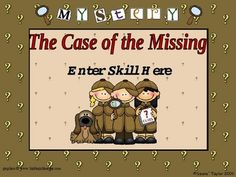 This is a game template with cute detective kids graphics. You may add your own answers and questions to connect with your lesson. It can be used a...