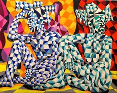 """new painting """"Two Harlequins Backstage"""" Oil on canvas 80x100 cm. 2014. AVAILABLE sergey@snw.be"""