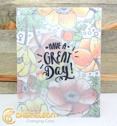 Vellum overlay on a coloring card? Yes!!! Thanks Annette and @chameleonpens for the share!