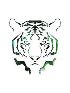 Tiger | By: chuypasillas, via Abduzeedo