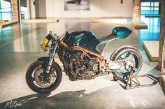 Triumph Daytona Cafe Racer by ExtremeWorkshop Triumph Cafe Racer, Cafe Racer Motorcycle, Triumph Motorcycles, Motorcycles For Sale, Cafe Racers, Triumph Scrambler, Moto Cafe, Cafe Bike, Bobber Custom