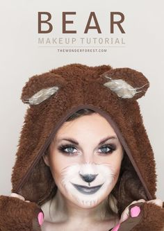 Cute Bear Makeup Tutorial for Halloween   Wonder Forest: Design Your Life. // Pin Now Watch Later - I hope it includes the look on her eyes, lovely!