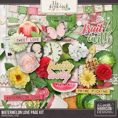 Watermelon Love Page Kit