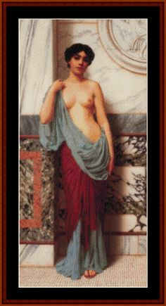 At the Thermae, 1909 - Godward cross stitch pattern by Cross Stitch Collectibles
