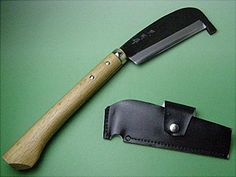 "HONMAMON ""GOKUJYO"" Japanese Hatchet (Axe), Blade Edge : Aogami Steel, Double Bevel, Wooden Handle"