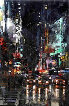 Mark Lague, Waterhouse Gallery, Artist, City Scenes, San Francisco, Mark Laguë, 2008 Exhibition, Impressionistic European Urban Landscapes, New York City, Manhattan, Italy, Rome, Haight Ashbury Hills, Haight Street