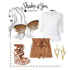 """Shades of You: Sunglass Hut Contest Entry"" by xvictoriaxfrenchiex on Polyvore featuring Loveless, MANGO, Versace, chill, sunglasseshut and shadesofyou"