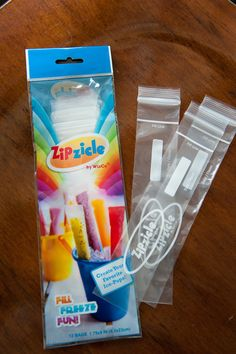 Portable Popsicles zipcicle bags only $2.99 for package of 12!!!!! So cool, you can make your own otter pops