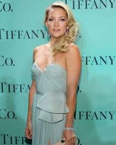 Kate Hudson in jewels from the Tiffany  Co. 2013 Blue Book Collection on the red carpet at the Blue Book Ball.