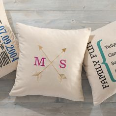 Canvas Pillows can now be EMBROIDERED! Get yours today!