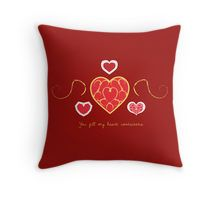 You fill my heart containers. Throw Pillow