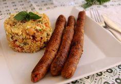 """La Fée Stéphanie: Saucisses végétales à l'italienne pour un défi cuisine sur le thème """"Garden Party"""""""
