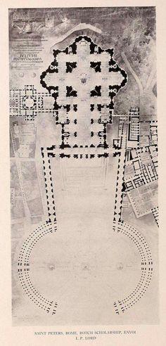 Plan of Saint Peters' Dome, Vatican City #architecture