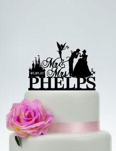 Disney Wedding Cake Topper Mr e Mrs Cake Topper con cognome