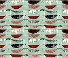 Mod Graphic Red 50 fabric by chicca_besso on Spoonflower - custom fabric