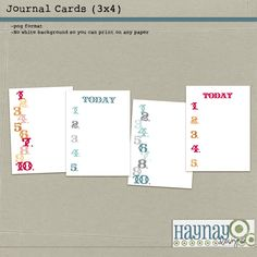 Free PL journal cards