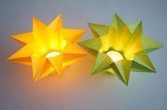 Windlicht Stern - Sonstige Sterne   Sterne Basteln - Basteln toller Sterne