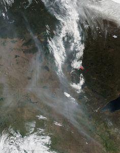 The Suomi NPP satellite took this photo of Canada's Fort McMurray wildfire on May 8, 2016.
