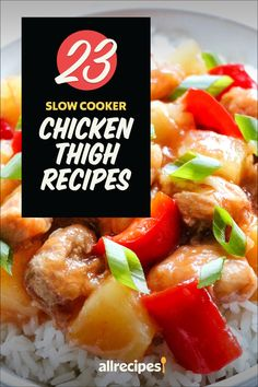 """23 Slow Cooker Chicken Thigh Recipes 
