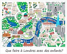london map beautiful colorful london children map in english