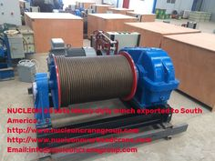 NUCLEON 25 sets Heavy duty winch exported to South America Electric Winch, Electrical Wiring, South America