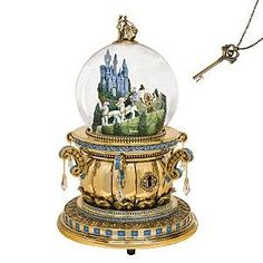Cinderella's Castle Snowglobe with Key review | buy, shop with friends, sale | Kaboodle