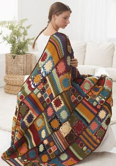 love this!! FREE sampler pattern for this advanced throw. It is amazing.