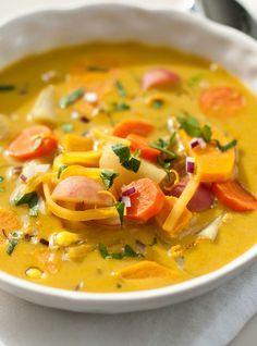 Soupe au tapioca et aux légumes d'automne de Joël Legendre