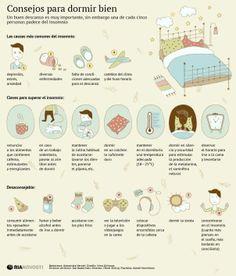 Consejos que te ayudarán a combatir el insomnio y dormir mejor.