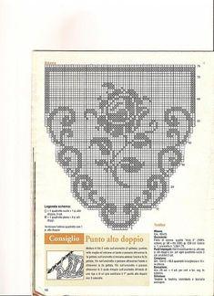 Crochet Lace Edging, Crochet Motifs, Crochet Art, Crochet Doilies, Filet Crochet Charts, Crochet Diagram, Doily Patterns, Crochet Patterns, Lazy Daisy Stitch