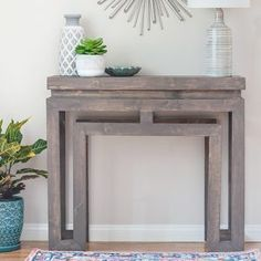 Check out these simple scrap wood projects and ideas to try! These easy small wood projects are perfect beginner woodworking projects too! Diy Kids Table, Wood, Table, Diy Table, Diy Wood Wall, Scrap Wood Projects, Ballard Designs Inspired, Diy Console Table, Diy Vegetable Storage Bin