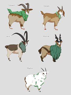 Pokemon Gogoat variations