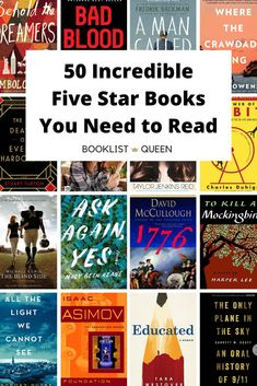 Top Rated Books If you want the best of the best, these five star books won't disappoint. Here are 50 of my all-time top rated books to read. 100 Best Books, Best Books To Read, Good Books, My Books, Best Books Of All Time, Book Club Books, Book Lists, Reading Lists, Reading Books