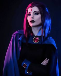 Raven from Teen Titans Cosplay Raven Halloween Costume, Halloween Outfits, Teen Titans Raven Costume, Cosplay Outfits, Cosplay Girls, Cosplay Costumes, Cosplay Anime, Best Cosplay, Gogo Tomago