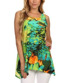 Another great find on #zulily! Green Tropic Sidetail Top - Women #zulilyfinds