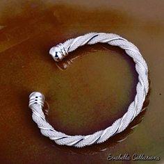 Beloved..The Silver Cuff Italian Design Bracelet ..by Evabella Collections.. by Evabella Collections on Opensky