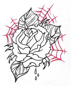 Neo Traditional Rose Outline 2 by vikingtattoo on DeviantArt tattoo sketches