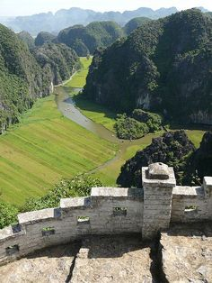 Tam Cốc Valley, view from the top, in Ninh Binh province, Vietnam