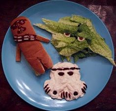 Star Wars food - for that picky kid who won't eat anything this would be irresistible!